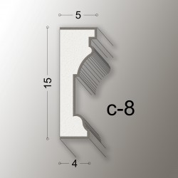 15,5X5 CORNICE LINEA EASY COD.C-8
