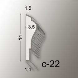 14X7 CORNICE LINEA EASY COD.C-22
